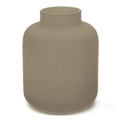 Soliflore gris taupe en verre dépoli - Vase Opale Coming B - Les inutiles