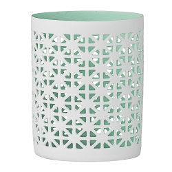 Photophore Dentelle Vert amande - votive Bloomingville mint - Bougeoir turquoise - Boutique Les inutiles