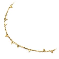 Bracelet Lisa Doré - Chaîne or fine et triangles graphiques - Boutique Les inutiles
