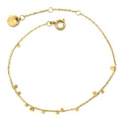 Bracelet Odile Doré - Chaîne or fine et pastilles bulles pois ronds - Boutique Les inutiles