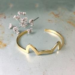 Bracelet oreilles de chat - Jonc Kitten doré à l'or fin - Boutique Les inutiles