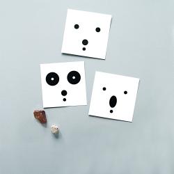 Carte postale Ours Polaire - minimalist polar bear - illustration noir & blanc - boutique Les inutiles
