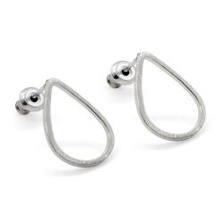Boucles d'oreilles Gouttes d'eau argent - Attache Tiges Poucettes - Boutique Les inutiles