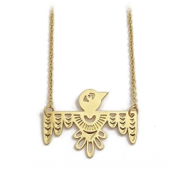 Bijoux Marine Mistake • Collier LuckyBird or • Pendentif oiseau ethnique doré • Boutique Les inutiles