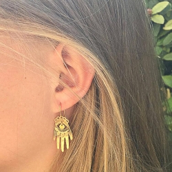 Boucles d'oreilles Lucky Hands Marine Mistake • Bijoux main de fatma talisman et porte-bonheure • Boutique Les inutiles