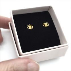 Mini Boucles d'oreilles • idée cadeau bijoux œil divin symbol de protection • Bijoux Marine Mistake • Boutique Les inutiles