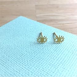 Petites Boucles d'oreilles oeil or • Bijoux Marine Mistake • Œil omniscient protecteur • Boutique Les inutiles