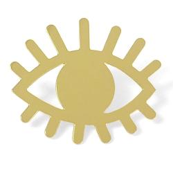 Pin's oeil doré • Bijoux Marine Mistake •  œil protecteur en or • Broche yeux • Boutique Les inutiles