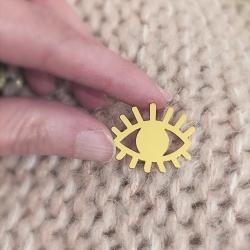 Pins Oeil Divin Ojo Doré • Bijoux Talisman Marine Mistake • Créatrice Française • Concept Store Les inutiles