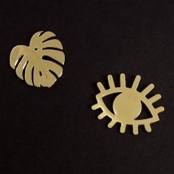 Broche Monstera et Pin's Oeil • Ojo Bijoux Marine Mistake • Boutique de Créateurs Les inutiles