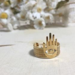 Bague Manojo Bijoux Marine Mistake • Bague Main et Oeil Amulette protection symbol • boutique en ligne Lesinutiles