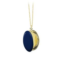 Sautoir Pendentif Photo • Collier Trois Petits Points • Bijoux Bleu marine • Boutique Les inutiles