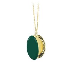 Médaillon porte photo vert forêt • collection Trois Petits Points • Boutique Les inutiles