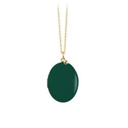 Sautoir Vert pin • Médaillon porte photo Trois Petits Points bijoux • Concept store en ligne Les inutiles