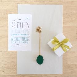 Médaillon Photo Vert bouteille - Bijoux mariage et naissance, cadeaux jeune maman, boutique concept store Les inutiles