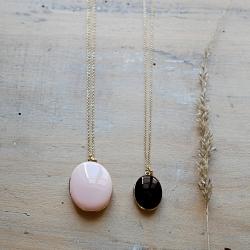 Idée cadeau pour une jeune maman • Sautoir et collier médaillon photo • Pendentif Trois Petits Points • Boutique Les inutiles
