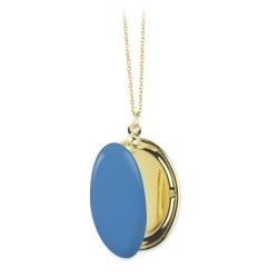 Médaille Photo, collier qui s'ouvre, pendentif bleu, cadeau mariage et naissance, fête des grands-mère, bijoux • Le inutiles