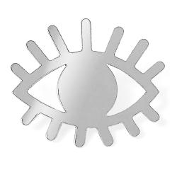 Pin's oeil argent • Bijoux Marine Mistake •  œil protecteur en argent • Broche yeux • Boutique Les inutiles