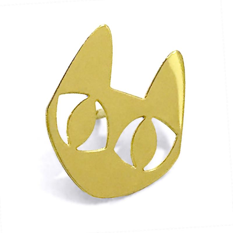 Pin's Chat Doré • Broche Marine Mistake • Bijoux de créateurs • Concept Store en ligne Boutique Les inutiles