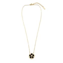 Pendentif Sakura Collier Fleur de cerisier Noir • Bijoux en acier inoxydable • Boutique en ligne Les inutiles