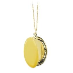 Collier qui s'ouvre pendentif boîte doré • Médaillon porte photo • Cadeau grand-mère mariage Boutique créateur Les inutiles