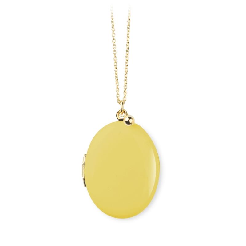 Sautoir pendentif qui s'ouvre doré à l'or fin • Médaillon photo à personnaliser Bijoux de créateurs français • Les inutiles
