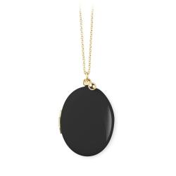 Médaillon Photo Noir - Sautoir Cassolette - Collier Trois Petits Points Boutique Les inutiles