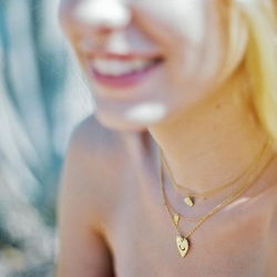 Pendentif porte-bonheur Milagro Marine Mistake • Collier Coeur Oeil Symbols • Boutique Les inutiles
