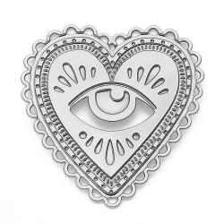Pin's Milagro Marine Mistake • Broche Coeur sacré et oeil de la providence talisman argent • Boutique Les inutiles