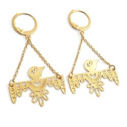 Boucles d'oreilles Oiseaux Or • Bijoux Loches Boutique Cadeaux Les inutiles • Collection Lucky Bird Marine Mistake