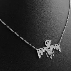 Bijoux Oiseau Argent Collier Marine Mistake • Pendentif Luckybird Quetzal Aztèque • Boutique lesinutiles