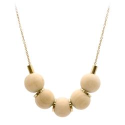 Remsen Collier en bois et chaîne dorée à l'or fin • bijoux Titlee • bijoux de créateurs et idées cadeaux boutique Les inutiles
