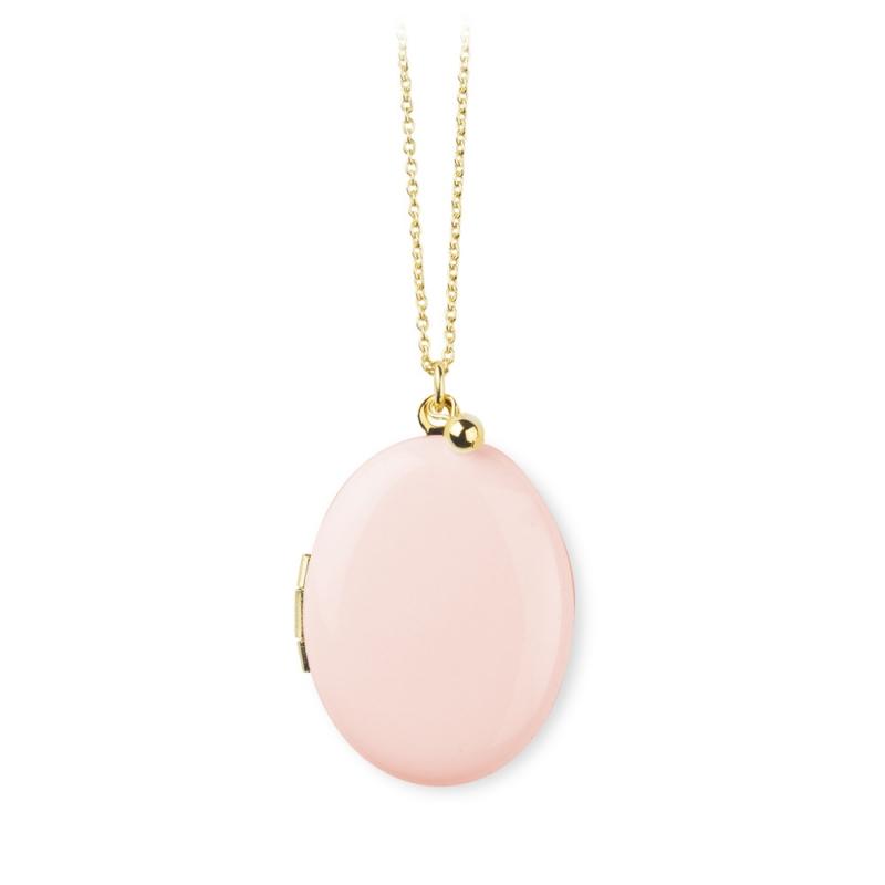 Sautoir Pendentif porte photo rose • Idée cadeau de naissance jeune maman • Collier Médaillon photo Bijoux