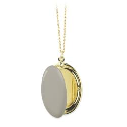 Médaillon photo doré et émaillé • Bijoux de créateurs français • Sautoir Trois Petits Points pour Les inutiles
