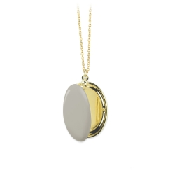 Pendentif qui s'ouvre Médaillon photo or et beige doré • Boutique cadeaux à Loches Bijoux créateurs Les inutiles