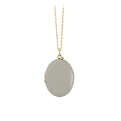 Médaillon porte photo or et émail beige • Bijoux artisanal fait à la main • Bijoutier à Loches boutique Les inutiles