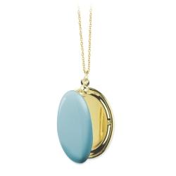 Collier personnalisable avec pendentif photo qui s'ouvre • Sautoir cassolette doré à l'or fin • Bijoux de créateurs
