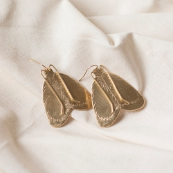 Bijoux insectes fait main Entomologie • Boucles d'oreilles Moth Papillons de nuit • Boutique de créateurs et mode artisanale