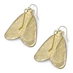 Grandes boucles d'oreilles Papillon de nuit • Moth Earrings Alexandria • Bijoux fait main créateurs Loches