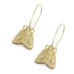 Boucles d'oreilles papillon de nuit • bijoux insectes Moth Earrings Cire • Créateurs Les inutiles
