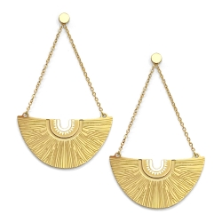 Bijoux ethniques et idées cadeaux • Boucles d'oreilles Bamako pendantes dorées • Bijouterie à Loches Boutique Les inutiles