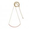 Collier Nude et or • Sautoir rose pastel • Boutique Les inutiles