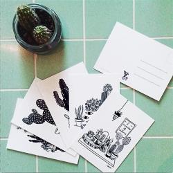 Illustrations et Cartes Postales Cactus Mania - Loren