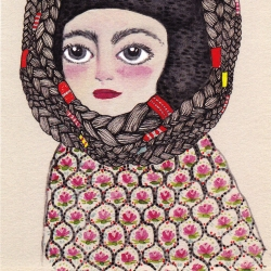 Cartes postales Erin Paisley - illustrations folk