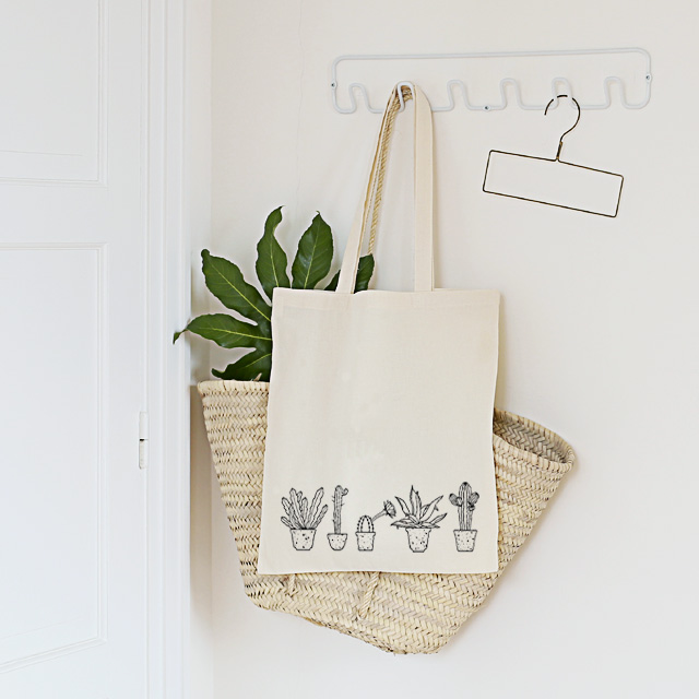 Totebag Urban Jungle - Illustration végétale Minimel - Les inutiles